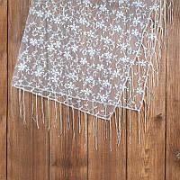 Кружевной платок для венчания бежевый (арт. SW-002)