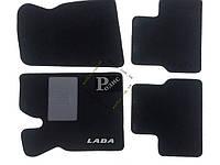 """Ворсовые коврики Ваз 2110-2112, 2170 (черные) """"бюджет"""" - Текстильные автоковры Lada"""