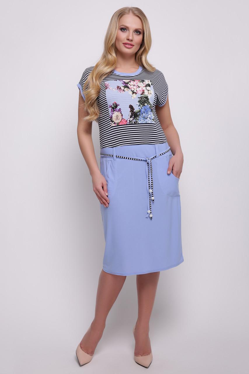 Платье Лекси р 50-60 голубой