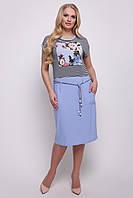Платье Лекси р 50-60 голубой, фото 1