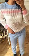 Костюм женский кофта и штаны вязка, фото 1