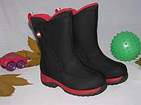 Сапоги детские осень зима Lands'End оригинал размер 23 черные 08005/01