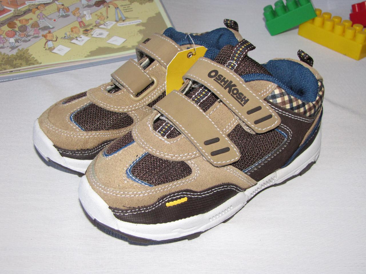 Кроссовки детские осенние OshKosh оригинал  размер 28 коричневые 08004