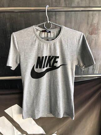 Мужская футболка Nike.Серая , фото 2