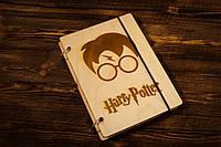 """Блокнот А5 из дерева """"Гарри Поттер"""""""