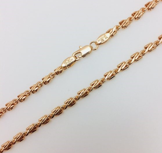 Цепочка мужская плетение Лезвие 55 см ширина 0.35 см ювелирная бижутерия Fallon
