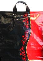 """Пакет полиэтиленовый Типа Петля """"Черное и Красное"""" 40 х 45 см / уп-25шт"""