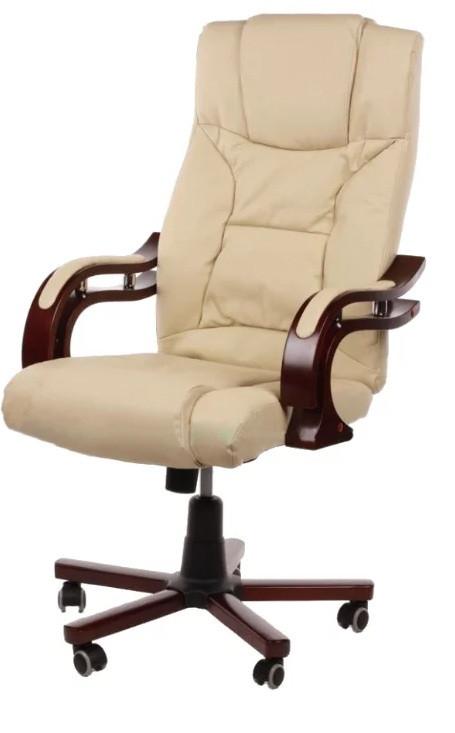 Кресло компьютерное Prezydent Calviano. Цвет бежевый.
