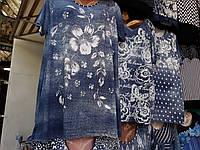 Женская футболка туника большого размера