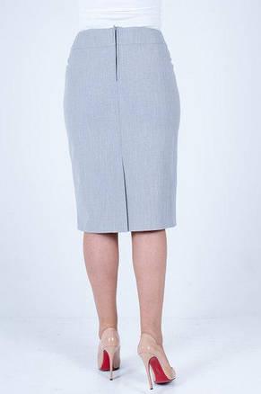 Модная юбка прямого покроя с кружевом и стразиками, фото 2