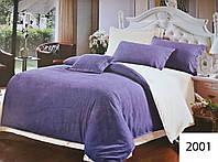 Комплект постельного белья однотонный Двуспальный Евро Поликоттон Moda 2001-e