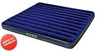 Intex Велюр матрац 68755 (2) синий, большой, 203-183-22см, в коробке