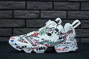 Женские кроссовки Vetements x Reebok Insta Pump Fury (Реплика)