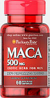 Мака, Maca 500 mg, Puritan's Pride, 60 капсул
