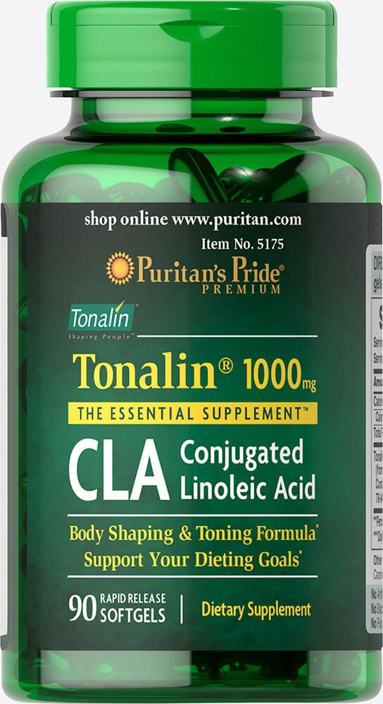 Конъюгированная линолевая кислота Тоналин CLA 1000 mg Tonalin®, Puritan's Pride,90капсул