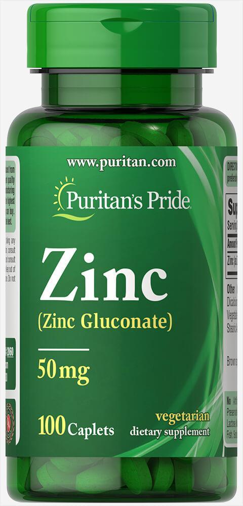 Цинк, Zinc 50 mg, Puritan's Pride, 100 таблеток