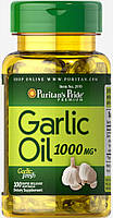 Чеснок, Garlic Oil 1000 mg, Puritan's Pride, 100 капсул
