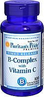 Витамин В-комплекс + Витамин С, Vitamin B-Complex + Vitamin C Time Release, Puritan's Pride, 100 таблеток