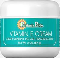 Крем с витамином Е, Vitamin E Cream 6,000 IU, Puritan's Pride, 59 мл