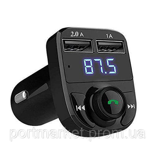 FM модулятор Трансмиттер Car X8 Premium 2USB Bluetooth ФМ