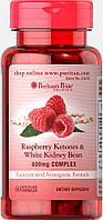 Малиновые кетоны и Белая фасоль, Raspberry Ketones and White Kidney Bean 600mg, Puritan's Pride, 60 капсул