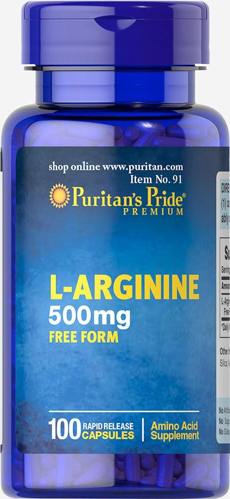 Л-Аргинин, L-Arginine 500 mg, Puritan's Pride, 100 капсул