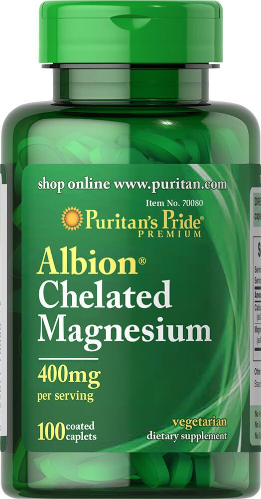 Магний Хелат, Chelated Magnesium 400 mg, Puritan's Pride, 100 таблеток