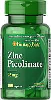 Цинка пиколинат, Zinc Picolinate 25 mg, Puritan's Pride, 100 таблеток