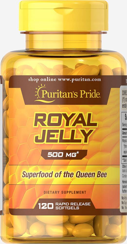 Королевское желе, Royal Jelly 500 mg, Puritan's Pride, 120 капсул
