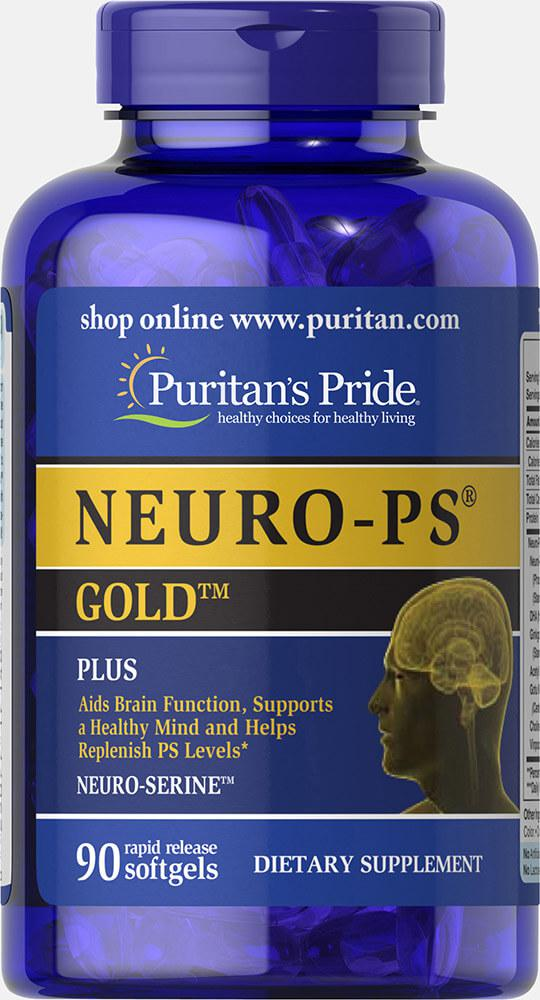 Комплекс с фосфатидилсерином NEURO-PS GOLD, Puritan's Pride, 90 капсул