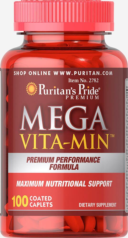 Мультивитамины, Mega Vita-Min™ Multivitamin, Puritan's Pride, 100 таблеток