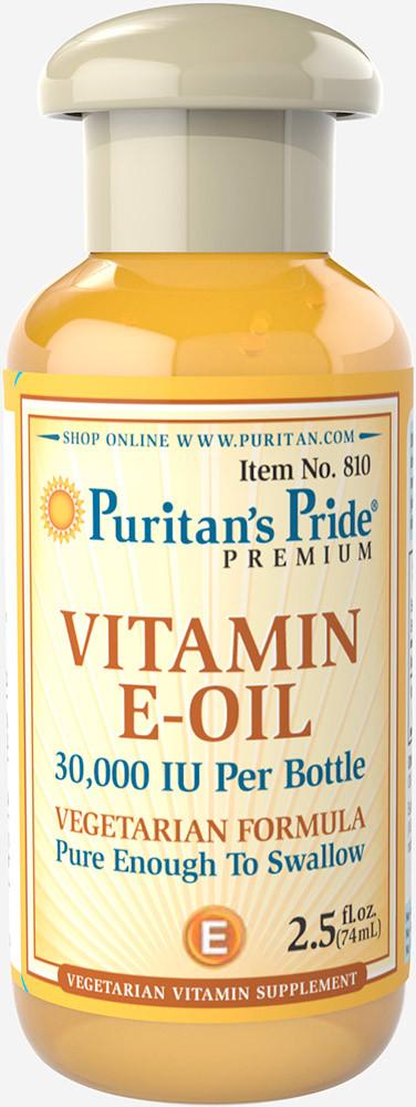 Витамин Е масляный, Vitamin E-Oil 30,000 IU, Puritan's Pride, 74 мл