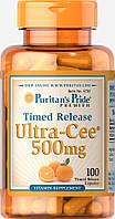 Витамин С медленного высвобождения Ultra Cee® 500 mg Time Release, Puritan's Pride, 100 капсул