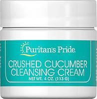 Крем огуречный, Crushed Cucumber Cleansing Cream, Puritan's Pride,118 мл