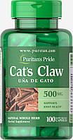 Кошачий коготь, Cat's Claw 500 mg, Puritan's Pride, 100 капсул