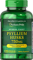 Подорожник, Psyllium Husks 750 mg, Puritan's Pride, 120 капсул