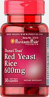 Красный дрожжевой рис, Red Yeast Rice 600 mg, Puritan's Pride, 30 капсул