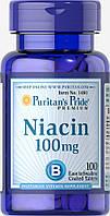Ниацин, Niacin 100 mg, Puritan's Pride, 100 таблеток