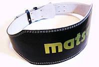 Ремень тяжелоатлет. PVC MATSA  (шир-6' (15см), на пряжке) 82-92 см. / S Черный