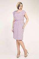 Летнее женское платье с резинкой по талии размер 48,50,52,54