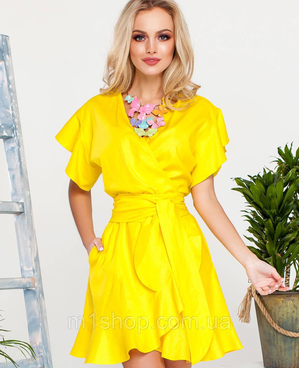 Женское льняное расклешенное платье (Нарциси jd)
