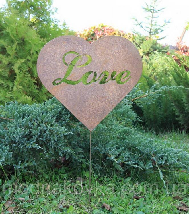 Декор для сада Сердце красное