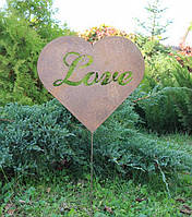 Декор для сада Сердце красное, фото 1