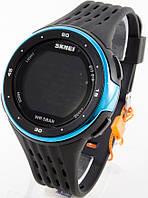 Мужские спортивные наручные часы Skmei, черные + синие, фото 1