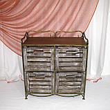 Тумба этажерка на 4 ящика І Полка металлическая I Комод кованый, фото 3