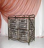 Тумба этажерка на 4 ящика І Полка металлическая I Комод кованый, фото 2