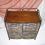 Тумба этажерка на 4 ящика І Полка металлическая I Комод кованый, фото 5