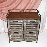 Тумба этажерка на 4 ящика І Полка металлическая I Комод кованый, фото 4
