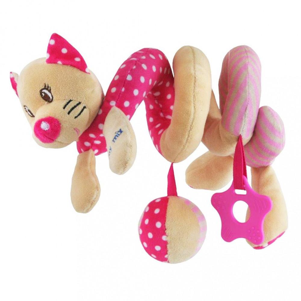 Плюшевая игрушка спираль Baby Mix STK-17519C Котик