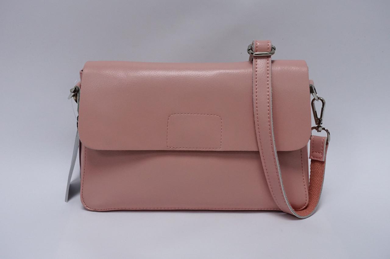 Сумка-клатч кожаная Galanty S-606 l.pink